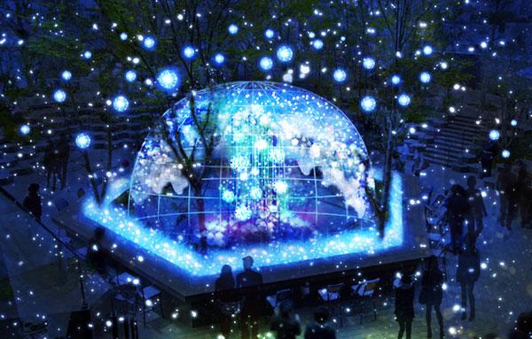 体感型イルミネーション!表参道原宿の東急プラザで新しいクリスマスを